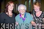 MASS:Amanda Carmody, Betty Brosnan and Ann Carmody at the 100 years celebration mass of The Sacred Heart Church, Lyreacrompane on Sunday.