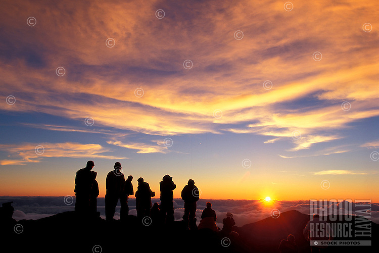 Sunrise at Haleakala Crater, Maui.