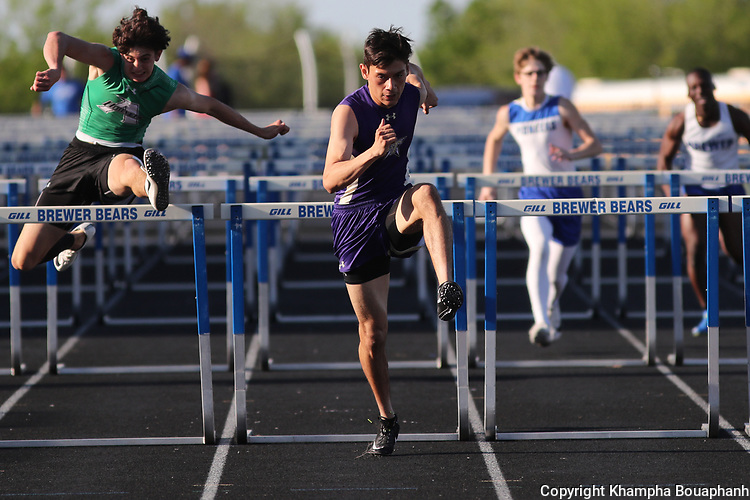 Saginaw, Chisholm Trail, and Boswell compete in 7-5A district track meet at Brewer high school on Thursday, April 4, 2019. (Photo by Khampha Bouaphanh)