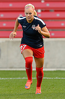 Chicago, IL - Saturday Sept. 24, 2016: Line Sigvardsen Jensen prior to a regular season National Women's Soccer League (NWSL) match between the Chicago Red Stars and the Washington Spirit at Toyota Park.