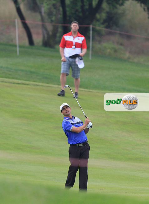 Felipe Aguilar (CHI) on the 12th fairway during Round 1 of the Open de Espana  in Club de Golf el Prat, Barcelona on Thursday 14th May 2015.<br /> Picture:  Thos Caffrey / www.golffile.ie