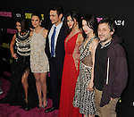 HOLLYWOOD, CA - MARCH 14: Vanessa Hudgens, Ashley Benson, James Franco, Selena Gomez, Rachel Korine and Harmony Korine attend the 'Spring Breakers' Los Angeles Premiere at ArcLight Hollywood on March 14, 2013 in Hollywood, California.