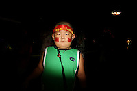 CHINA. Beijing. A young boy on Tiananmen Square during the Beijing 2008 Summer Olympics. 2008