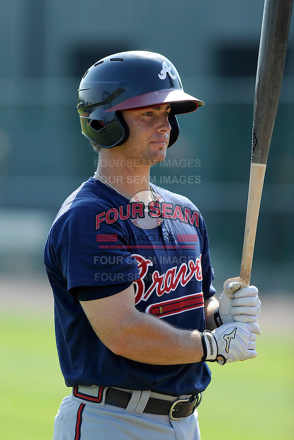 Catcher Chris O'Dowd (96) of the Atlanta Braves farm system in a Minor League Spring Training intrasquad game on Wednesday, March 18, 2015, at the ESPN Wide World of Sports Complex in Lake Buena Vista, Florida. (Tom Priddy/Four Seam Images)