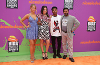 LOS ANGELES, CA July 13- Lexi DiBenedetto, Lilimar, Amarr M. Wooten, Kelly Perine, At Nickelodeon Kids' Choice Sports Awards 2017 at The Pauley Pavilion, California on July 13, 2017. Credit: Faye Sadou/MediaPunch