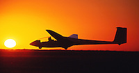 Segelflug, ASK 21, Sonnenuntergang