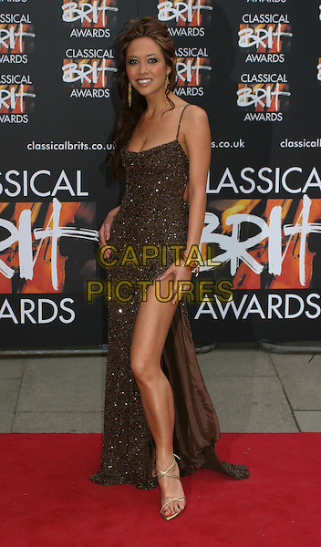 MYLEENE KLASS.The Classical BRIT Awards at the Royal Festival Hall.www.capitalpictures.com.sales@capitalpictures.com.©Capital Pictures..full length, full-length