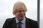 LONDON, ENGLAND - FEBRUARY 01 2013: London Mayor Boris Johnson opens the Viewing Platform at The View from The Shard - Western Europe's tallest building on (Photo by Dave Horn - Extreme Aperture Photography)