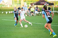 Kansas City, MO - Sunday September 11, 2016: Vanessa DiBernardo, Mandy Laddish during a regular season National Women's Soccer League (NWSL) match between FC Kansas City and the Chicago Red Stars at Swope Soccer Village.