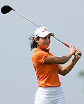 HAIKOU, CHINA - OCTOBER 30:  Lorena Ochoa of Mexico tee off on the 6th hole during day four of the Mission Hills Start Trophy tournament at Mission Hills Resort on October 30, 2010 in Haikou, China. The Mission Hills Star Trophy is Asia's leading leisure liflestyle event and features Hollywood celebrities and international golf stars. Photo by Victor Fraile / The Power of Sport Images