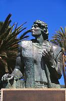 Portugal, Porto Santo, Kolumbus-Denkmal im Stadtpark in Vila Baleira