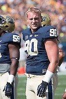 Pitt defensive lineman Jack Lippert. The Pitt Panthers defeated the Virginia Cavaliers 14-3 at Heinz Field, Pittsburgh, PA on Saturday, September 28, 2013.