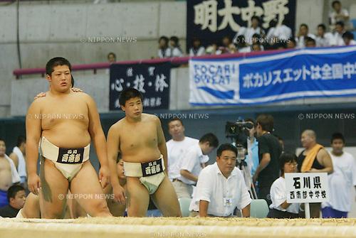 Shota Endo (Kanazawa Seinanbu), AUGUST 24, 2005 - Sumo : 35th National Junior High School Sumo Championships in Shizuoka, Japan. (Photo by AFLO SPORT) [0006]