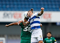 11th July 2020; The Kiyan Prince Foundation Stadium, London, England; English Championship Football, Queen Park Rangers versus Sheffield Wednesday; Geoff Cameron of Queens Park Rangers challenges Alessio da Cruz of Sheffield Wednesday