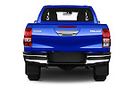 Straight rear view of 2017 Toyota Hilux Comfort 2 Door Pickup Rear View  stock images