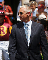Todd Pletcher the trainer of Awesome Maria in the walking ring before the Rampart Stakes (G3). Gulfstream Park Hallandale Beach Florida. 03-31-2012 Arron Haggart / Eclipse Sportswire