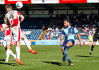 Sam Wood of Wycombe Wanderers during the Sky Bet League 2 match between Wycombe Wanderers and Cheltenham Town at Adams Park, High Wycombe, England on the 8th April 2017. Photo by Liam McAvoy.
