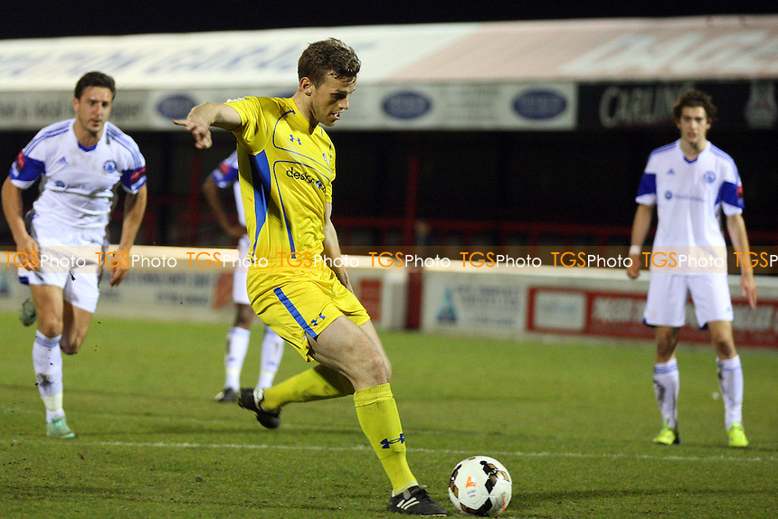 Danny Glazier of Concord Rangers scored the fourth goal from the penalty spot - Billericay Town vs Concord Rangers in the BBC Essex Senior Cup Final at the London Borough of Barking and Dagenham Stadium on 20/04/15 - MANDATORY CREDIT: Dave Simpson/TGSPHOTO - Self billing applies where appropriate - 0845 094 6026 - contact@tgsphoto.co.uk - NO UNPAID USE