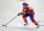 22 April 2009: Montreal Canadiens' center and Team Captain Saku Koivu from Finland brings the puck across center ice during the first period against the Boston Bruins at the Bell Centre in Montreal, Quebec, Canada. The Bruins advanced to the Eastern Semi-Finals, eliminating the Canadiens from Stanley Cup competition with a 4-1 win and series sweep. ***** Editorial Sales Only ***** Mandatory Credit: Ed Wolfstein Photo