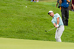 CROMWELL, CT. 20 June 2019-062019 - PGA Tour player Paul Casey chips up onto the fourth green, during the first round of the Travelers Championship at TPC River Highlands in Cromwell on Thursday. Bill Shettle Republican-American