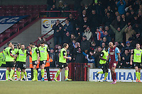 Carl Winchester of Oldham Athletic opens the scoring for the away team<br />  - Scunthorpe United vs Oldham Athletic - Sky Bet League One Football at Glanford Park, Scunthorpe, Lincolnshire - 07/02/15 - MANDATORY CREDIT: Mark Hodsman/TGSPHOTO - Self billing applies where appropriate - contact@tgsphoto.co.uk - NO UNPAID USE