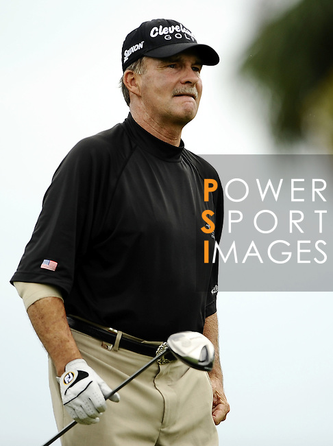 TAIPEI, TAIWAN - NOVEMBER 19:  Doug Johnshon of USA walks on the 1st hole during day two of the Fubon Senior Open at Miramar Golf & Country Club on November 19, 2011 in Taipei, Taiwan.  Photo by Victor Fraile / The Power of Sport Images
