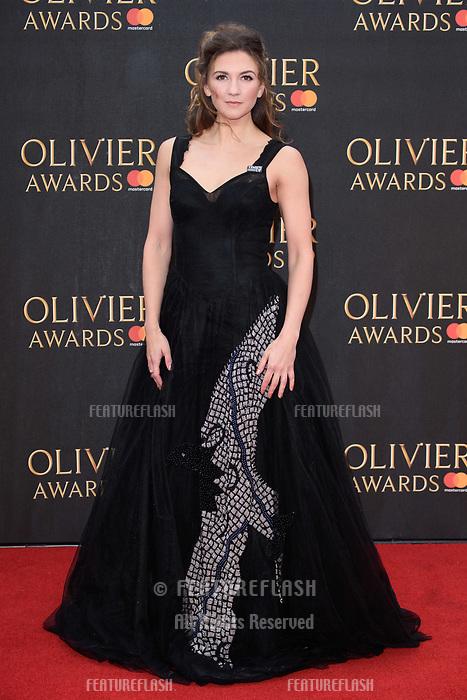 Summer Strallen arriving for the Olivier Awards 2018 at the Royal Albert Hall, London, UK. <br /> 08 April  2018<br /> Picture: Steve Vas/Featureflash/SilverHub 0208 004 5359 sales@silverhubmedia.com