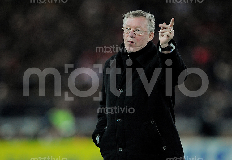 Fussball International FIFA Club WM Japan 2008     21.12.2008 Finale Liga de Quito - Manchester United Trainer Sir Alex Ferguson (ManU)