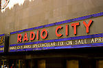 New York City, New York: Radio City Music Hall  .Photo #: ny278-14765  .Photo copyright Lee Foster, www.fostertravel.com, lee@fostertravel.com, 510-549-2202.