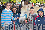 Future traders: Danny Sullivan, Glencar, Brian Cronin, Shane Moloney and Kevin Cronin, all Milltown, learn how bargain at Kenmare Fair on Wednesday..
