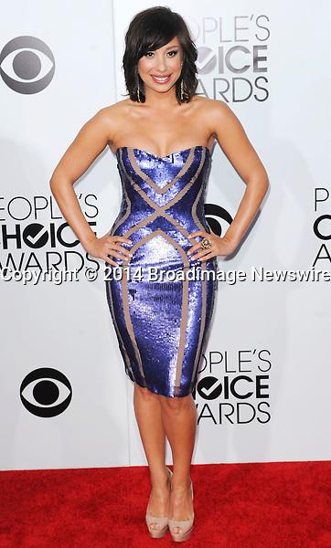 Pictured: Cheryl Burke<br /> Mandatory Credit &copy; Adhemar Sburlati/Broadimage<br /> People's Choice Awards 2014 - Arrivals<br /> <br /> 1/8/14, Los Angeles, California, United States of America<br /> <br /> Broadimage Newswire<br /> Los Angeles 1+  (310) 301-1027<br /> New York      1+  (646) 827-9134<br /> sales@broadimage.com<br /> http://www.broadimage.com