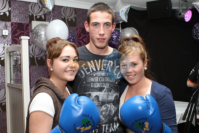 Vanessa Caffrey, Dean Russell and Jessica Dyas at the Launch of the Charity White Collar Boxing Event at the Morning Star in Tullyallen...Photo NEWSFILE/Jenny Matthews.