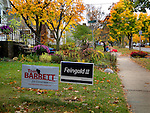 Mid-term elections bring out yard signs on Madison's east side.