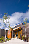 Architectural Photography of the Morris Thompson Convention and Visitors Center in Fairbanks.