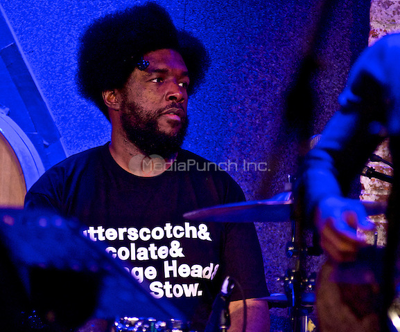 NEW YORK, NY - MARCH 6: QuestLove pictured as The Roots perfrom at City Winery in New York City. March 6, 2013. Credit: Robert Altman/MediaPunch Inc.