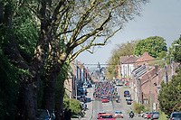 peloton leaving Binche<br /> <br /> 81st La Fl&egrave;che Wallonne (1.UWT)<br /> One Day Race: Binche &rsaquo; Huy (200.5km)