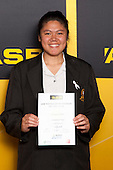 Girls Volleyball winner Harmony Mekuri from Otahuhu College. ASB College Sport Young Sportsperson of the Year Awards held at Eden Park, Auckland, on November 24th 2011.