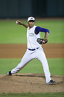 Winston-Salem Dash relief pitcher Michael Ynoa (19) in action against the Wilmington Blue Rocks at BB&T Ballpark on July 30, 2015 in Winston-Salem, North Carolina.  The Dash defeated the Blue Rocks 7-3.  (Brian Westerholt/Four Seam Images)