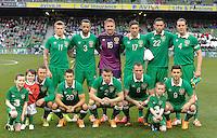 25h May 2014;The Republic of Ireland team.  International Friendly, Republic of Ireland v Turkey, Aviva Stadium, Dublin. Picture credit: Tommy Grealy/actionshots.ie.