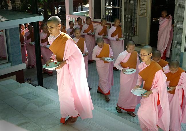 Women monks at Burma monestary