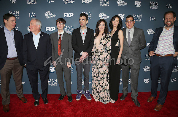 "03 January 2017 - Los Angeles, California - Lorne Michaels, Simon Rich, Jay Baruchel, Britt Lower, Katie Findlay. Premiere Of FXX ""It's Always Sunny In Philadelphia"" Season 12 And ""Man Seeking Woman"" Season 3 held at Fox Bruin Theatre. Photo Credit: F. Sadou/AdMedia"