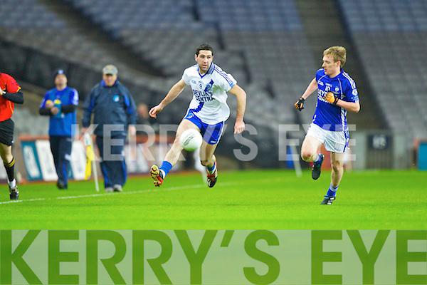 Bryan Sheehan Saint Mary's, Cahersiveen, v Conoe Quirke Saint Mary's, Swanlinbar in the All Ireland Junior Club Championship at Croke park on Saturday evening.