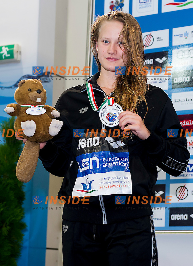 Barocsai Petra HUN<br /> 100 Butterfly Women Final Silver Medal<br /> LEN 43rd Arena European Junior Swimming Championships<br /> Hodmezovasarhely, Hungary <br /> Day04 09-07-2016<br /> Photo Andrea Masini/Deepbluemedia/Insidefoto