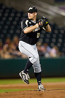 Blake Mascarello (13) of the Purdue Boilermakers winds up during a game against the Missouri State Bears at Hammons Field on March 13, 2012 in Springfield, Missouri. (David Welker / Four Seam Images)