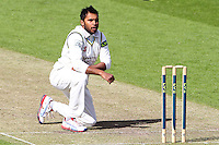 PICTURE BY ALEX WHITEHEAD/SWPIX.COM - Cricket - LV County Championship Match, Day 1 - Yorkshire vs Derbyshire - Headingley, Leeds, England - 29/04/13 - Yorkshire's Adil Rashid reacts.