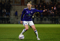 20180126 - OOSTAKKER , BELGIUM : Anderlecht's Ella Van Kerkhoven pictured during the quarter final of Belgian cup 2018 , a womensoccer game between KAA Gent Ladies and RSC Anderlecht , at the PGB stadion in Oostakker , friday 27 th January 2018 . PHOTO SPORTPIX.BE | DAVID CATRY