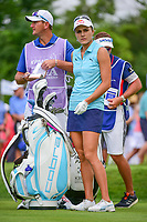 Lexi Thompson (USA) prepares to tee off on 2 during Friday's round 2 of the 2017 KPMG Women's PGA Championship, at Olympia Fields Country Club, Olympia Fields, Illinois. 6/30/2017.<br /> Picture: Golffile | Ken Murray<br /> <br /> <br /> All photo usage must carry mandatory copyright credit (&copy; Golffile | Ken Murray)