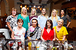 Teresa O&rsquo;Neill from Tralee having her Hen party on Monday evening with family and friends in the Il Pomo Dora Restuarant.<br /> Seated l-r, Sheila Griffin, Kyle McCormack and Gillian Greensmyth.<br /> Back l-r, Marie McCarthy, Elaine Friel, Samantha Quirke, Leanne Greensmyth, Ciara O&rsquo;Connor and Michele Sheehan.