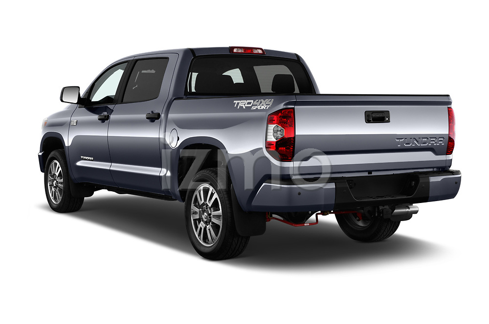Car pictures of rear three quarter view of a 2018 Toyota Tundra TRD Sport Crew 4 Door Pick Up angular rear