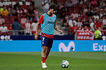 Atletico de Madrid's Joao Felix warms before La Liga match between Atletico de Madrid and Getafe CF at Wanda Metropolitano Stadium in Madrid, Spain. August 18, 2019. (ALTERPHOTOS/A. Perez Meca)
